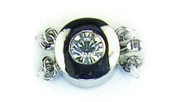 strass sluiting 11,5mm zilver