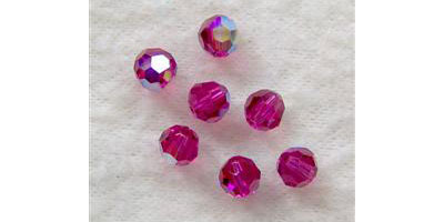 Swarovski round bead 6mm fuchsia AB