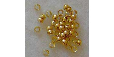 knijpkraal 2mm goud