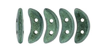 crescent metallic suede light green