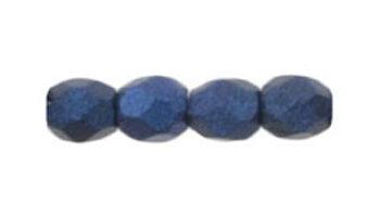 facet metallic suede blue