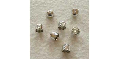 kralenkapje 7mm glad zilver