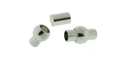 magneetsluiting bol-buis zilver