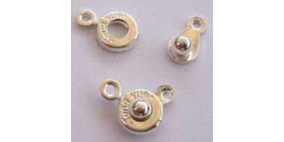 drukkersluiting 8mm zilver