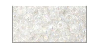 toho rocailles 6/0 transparant rainbow crystal