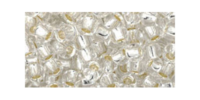 toho rocaille 6/0 silverlined crystal
