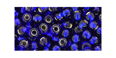 toho rocaille 6/0 silverlined cobalt
