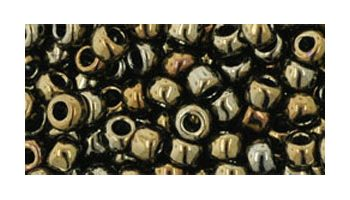toho rocailles 6/0 metallic iris brown