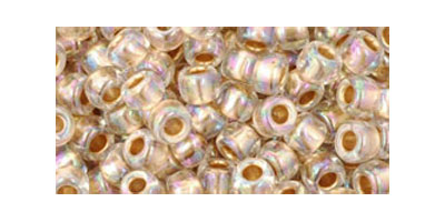 toho rocailles 6/0 gold lined rainbow crystal