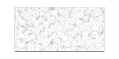 toho rocaille opaque lustered white