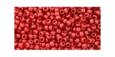 toho rocaille opaque lustered cherry