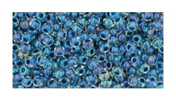 toho rocaille inside color crystal - capri blue lined