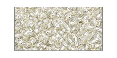 toho rocaille silverlined crystal