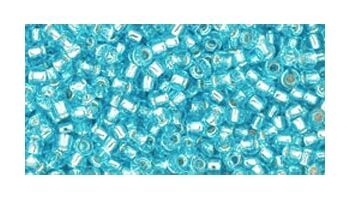 toho rocaille silverlined aquamarine