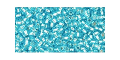 toho rocaille silverlined aquamarine