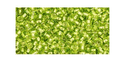 toho rocaille silverlined lime green