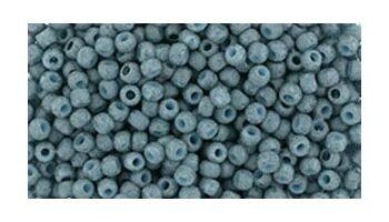 toho rocaille semi glazed blue turquoise
