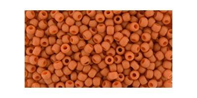 toho rocaille semi glazed orange