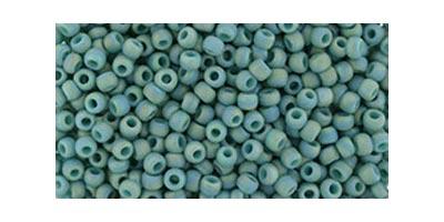 toho rocaille semi glazed rainbow turquoise