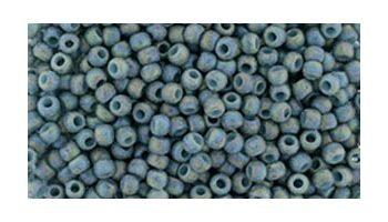 toho rocaille semi glazed rainbow blue turquoise