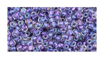 toho rocaille inside color rainbow crystal metallic purple lined