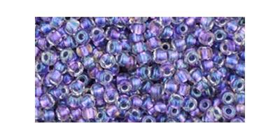toho rocaille inside color rainbow crystal metallic purple lined