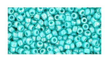 toho rocaille opaque rainbow turquoise