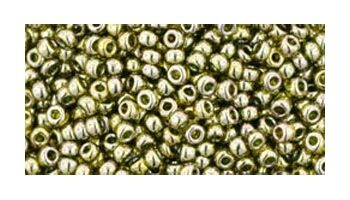 toho rocaille gold lustered green tea