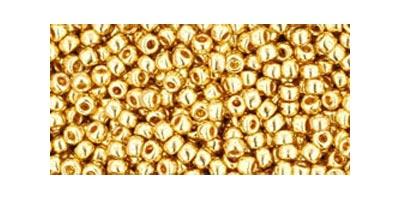 toho rocaille metallic gold gold