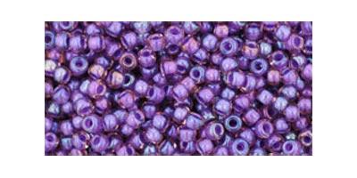 toho rocaille inside color rainbow posaline opaque purple lined