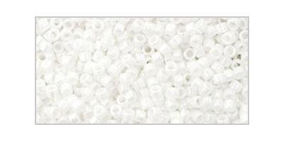 Toho delica 11/0 Opaque lustered white