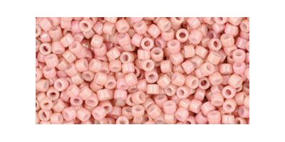 Toho delica 11/0 Opaque luster peachy pink