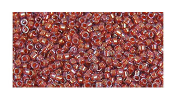 Toho delica 11/0 Inside color rainbow alexandrite-op. orange