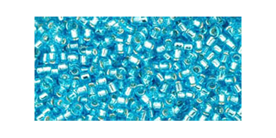 Toho delica 11/0 Silverlined aquamarine