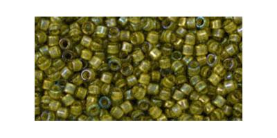Toho delica 11/0 Inside color luster bl. diamond-op. yellow