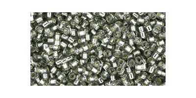 Toho delica 11/0 Silverlined black diamond