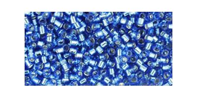 Toho delica 11/0 Silverlined sapphire