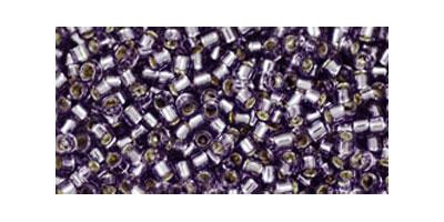 Toho delica 11/0 Silverlined tanzanite