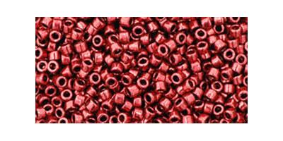 Toho delica 11/0 Galvanized brich red