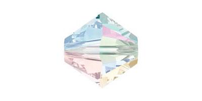 Swarovski bicone / toupie crystal AB