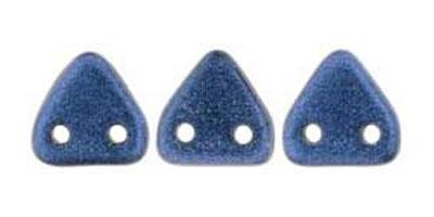 triangle metallic suede blue