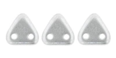 triangle matt metallic silver
