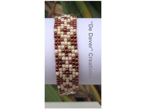 Armband olympic bronze - crème