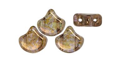 ginko leaf luster transparant gold-smokey topaz