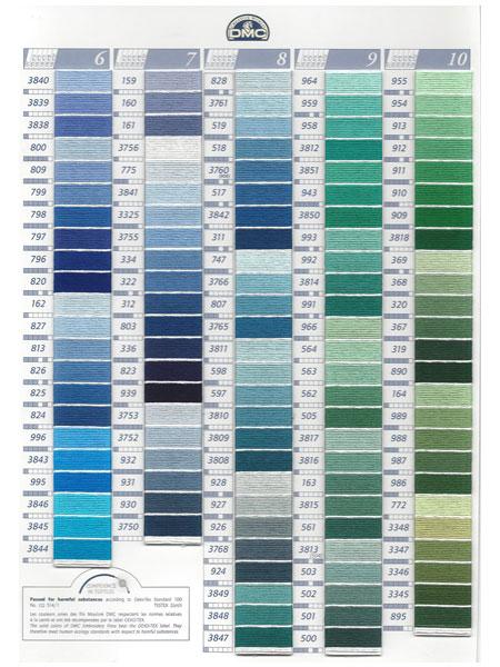 dmc kleurkaart mouline borduurgaren 2