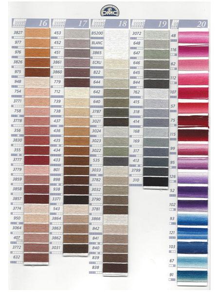 dmc kleurkaart mouline borduurgaren 4