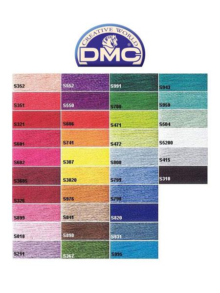 dmc kleurkaart satin borduurgaren