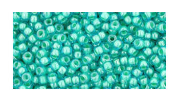 toho rocaille inside color aqua-light jonguil lined