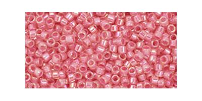 toho delica pink lined-rosaline rainbow