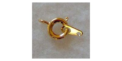 veersluiting 6mm goudkleur